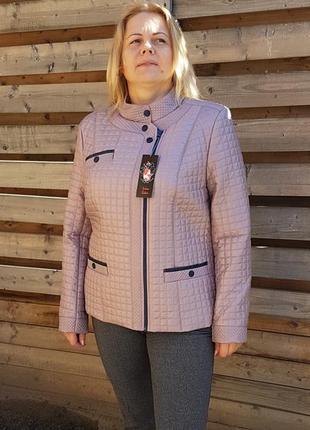 Куртка деми стеганая. размеры 48 - 58. много цветов.