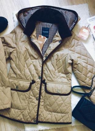 Куртка осенняя пуховик стёганная короткая модная демисезонная