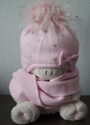 Головний набір: шапка та шарф в зірочки