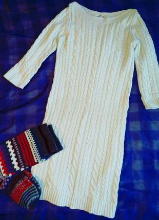 Вязанное платье миди от zara
