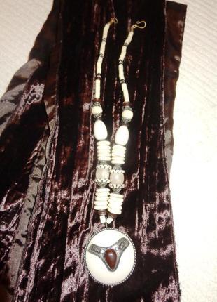 Ожерелье индийское из кости в стиле бохо