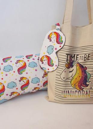 Эко-сумка с единорогом сумка-шоппер, тканевая сумка, авоська, экосумка