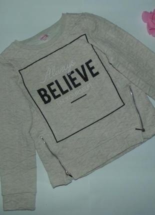Свитшот свитер для девочки miss evie