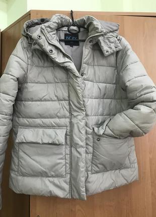 Куртка пуховик парка матовая серая