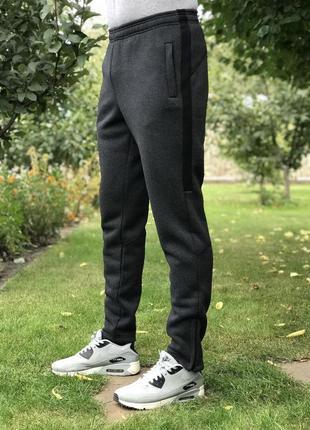 (s, m, l, xl, xxl)  зимние мужские штаны от производителя. модель № 6. цвет серый