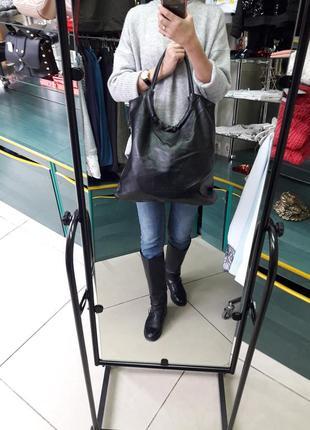Большая удобная сумка-хобо
