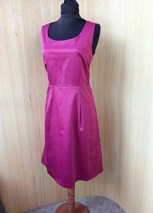 Платье футляр в деловом / офисном стиле цвета фуксии m/l