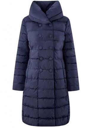 Удлинённая куртка / пальто с объёмным воротом oodji