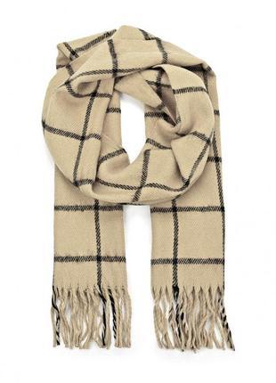 Очень теплый объемный шарф с шерстью