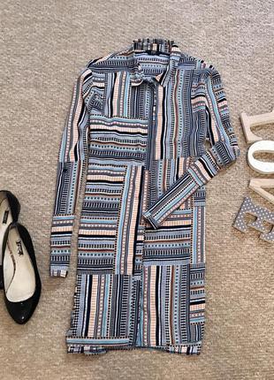 Удлиненная блуза в ромб f&f большого размера