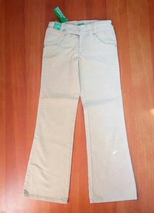 Песочно бежевые велюровые широкие брюки с оясом резинкой