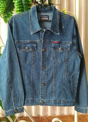 Джинсовый пиджак размер m