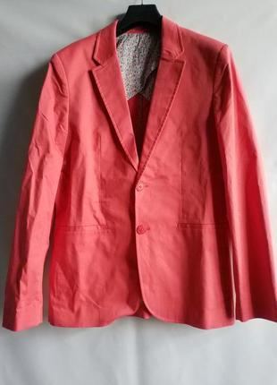 Блейзер пиджак стильный яркий хлопок l, xl, xxl  promod оригинал франция европа