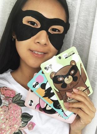 Корейская косметика маска для лица патчи milatte