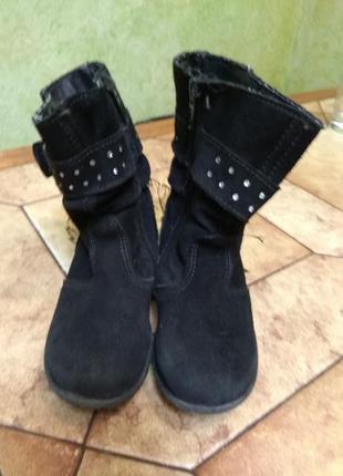 Сапоги, ботинки из натуральной замши