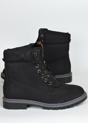Черные ботинки демисезон матовые ( без меха) 37\38\39\40\41