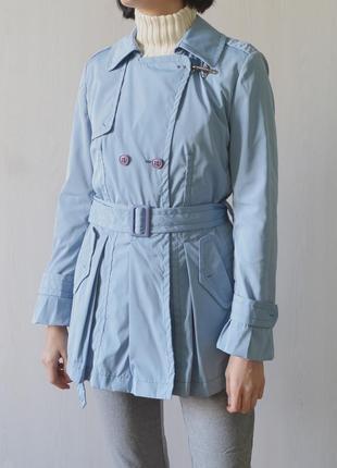 Fay плащ тренч пальто куртка нежно голубого цвета