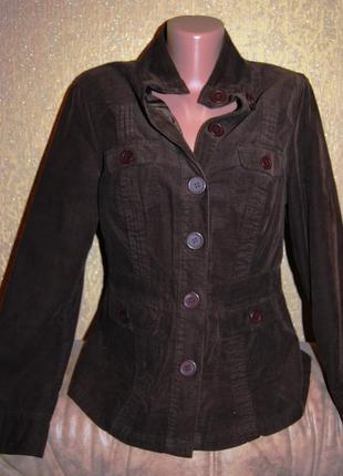 Брендовый коричневый  пиджак вельвет bhs