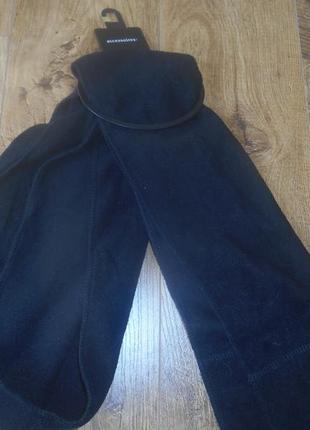 Черный, флисовый шарф