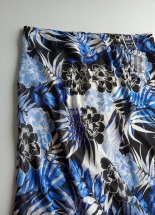 Красивейшая юбка миди в цветочный принт  на подкладке