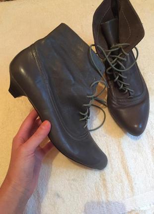 Ботинки козаки из натуральной кожи