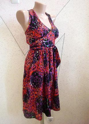 Женственное платье с карманами и пояском 12-14
