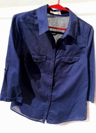 Хлопковая тонкая рубашка forever 21
