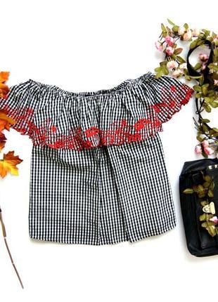 Блуза с приспущенными рукавами