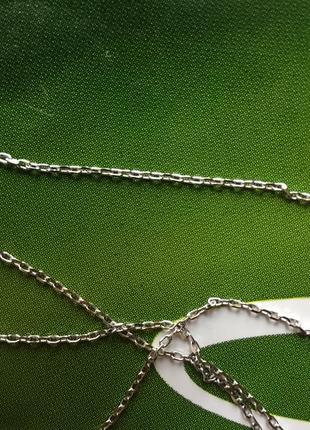 Цепочка с подвеской серебряная