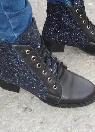 Ботинки натур кожа, размер 36 - 23,5 см, демисезон