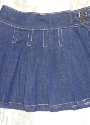 Дизайнерская джинсовая юбка трапеция на 10 лет