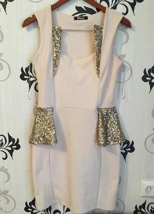 Коктейльное/нарядное платье футляр с пайетками