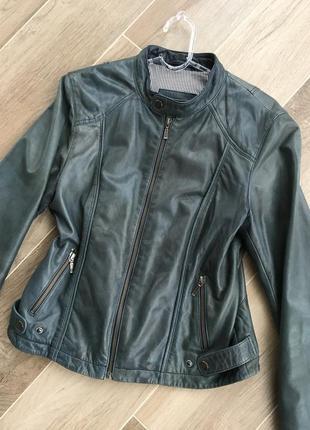Натуральная кожаная куртка косуха из натуральной кожи