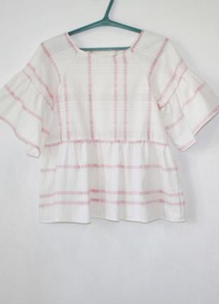 Нежная летняя летящая хлопковая блуза