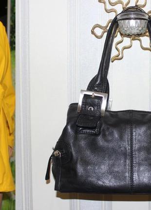 Шикарная сумка кожа clarks 100% оригинал.