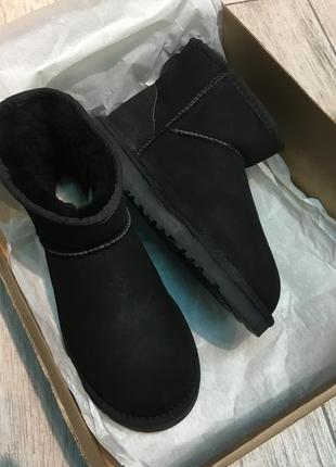 Классические черные оригинальные угги ugg australia mini black
