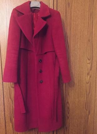 Осіннє тепле кешемірове пальто