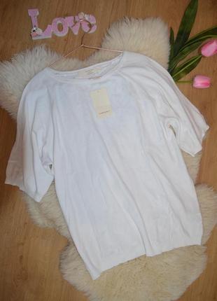 Белая трикотажная кофта оверсайз zara