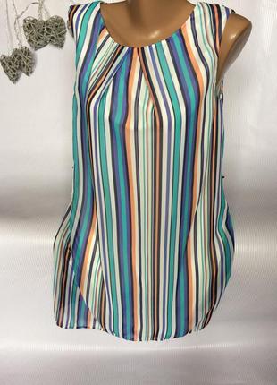 Шикарное платье шифон , в полоску