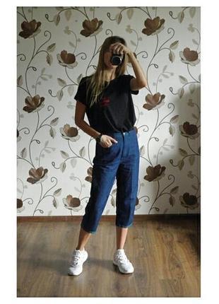 Укороченные джинсы от essentials стильные джинсы капри