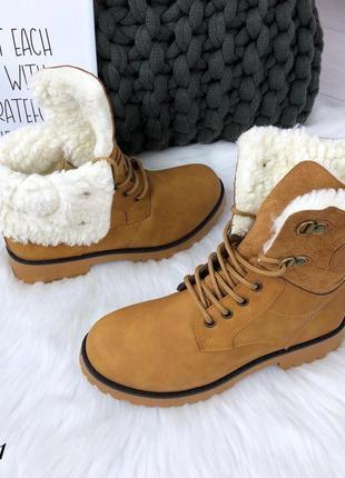 Акция! зимние ботинки в стиле timberland. размер 36