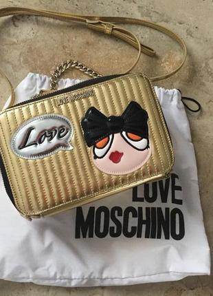 Золотая красота от love moschino, бесплатная доставка