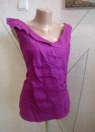Лен 100% блуза размер 14-16