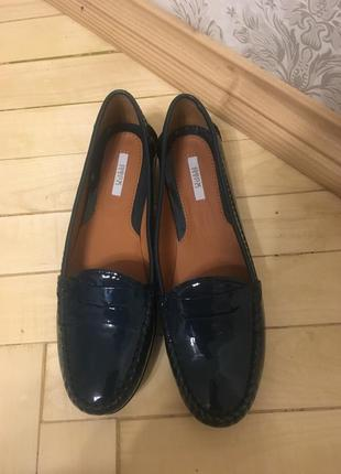 Туфли максини кожаные натуральная кожа geox respira оригинал италия 37