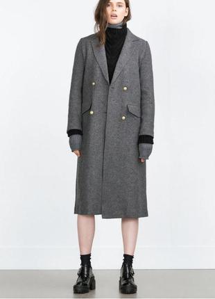 Базовое пальто шерсть/вискоза