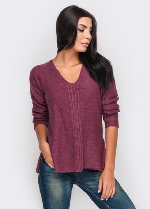 Стильний светр з розрізами