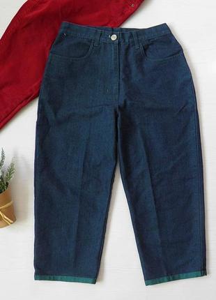 Укороченные джинсы от essentials брюки капри а высокой почадке