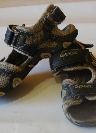 Сандали серые geox размер 31 стелька 19 см
