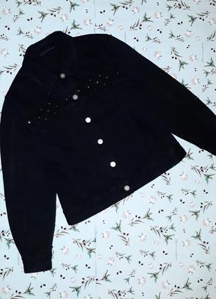 Акция 1+1=3 стильная черная джинсовая куртка, размер s - m