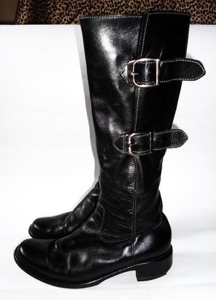 Демисезонные кожаные сапоги gabor р.37,5 стелька 24см